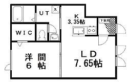レジデンス アイ・弐号館 1階1LDKの間取り