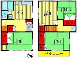 [一戸建] 千葉県松戸市上本郷 の賃貸【/】の間取り