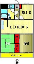三浦マンション[305号室]の間取り