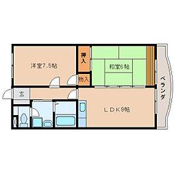 静岡県静岡市駿河区敷地2丁目の賃貸マンションの間取り