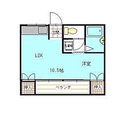 桜井ビル[1階]の間取り