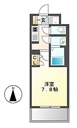 S−RESIDENCE葵[6階]の間取り