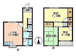 [テラスハウス] 兵庫県加西市北条町北条 の賃貸【/】の間取り