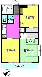 ふよう中央マンション[301号室]の間取り