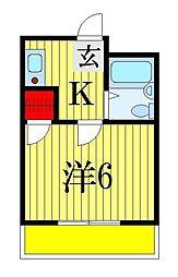 千葉県船橋市前原西5丁目の賃貸アパートの間取り