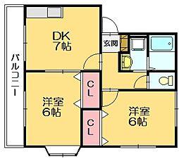 サンティール須恵I[2階]の間取り