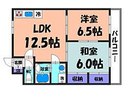 大阪府堺市北区新金岡町5丁の賃貸マンションの間取り