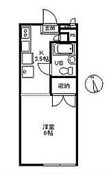 辻堂フローラ[205号室]の間取り