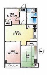 東京メトロ副都心線 西早稲田駅 徒歩4分の賃貸マンション 11階3LDKの間取り