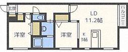 北海道札幌市中央区北一条東12丁目の賃貸マンションの間取り
