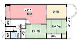 東朋第一マンション[110号室]の間取り