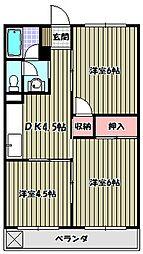 椋本マンション[3階]の間取り