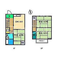 幸町アパート 中[2階]の間取り