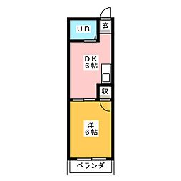森ビル1[4階]の間取り