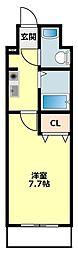 JR東海道本線 相見駅 徒歩35分の賃貸アパート 8階1Kの間取り