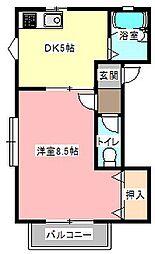 ラフィーユA[2階]の間取り