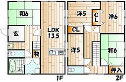 [一戸建] 福岡県北九州市八幡東区尾倉3丁目 の賃貸【/】の間取り