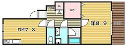 コーペラドール[1階]の間取り