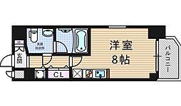 アーデン京町堀ウエスト[9階]の間取り