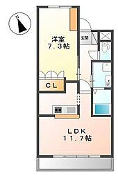 めぞん桜[2階]の間取り