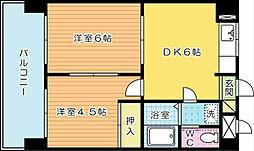 シティハイツ三郎丸[504号室]の間取り