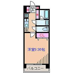 神奈川県横浜市港北区菊名2丁目の賃貸マンションの間取り
