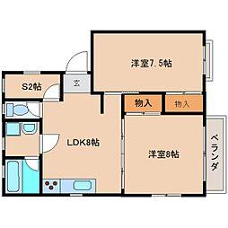 静岡県静岡市清水区袖師町の賃貸マンションの間取り