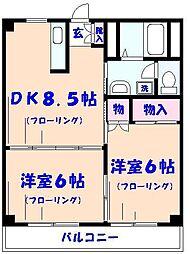 シェラコート山本[306号室]の間取り
