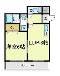 コニファーコート吉村[2階]の間取り