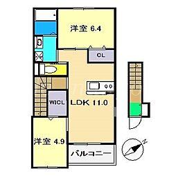 仮)南国市元町新築アパート[2階]の間取り