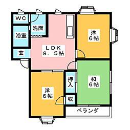 コーポナカザワ[2階]の間取り