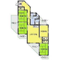 福岡県福岡市南区横手南町の賃貸マンションの間取り