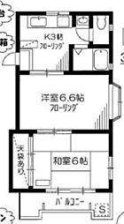 富士見町マンション[1階]の間取り
