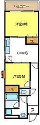 レジデンシアタネリ[4階]の間取り