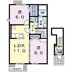 シーガ−ディアンI[2階]の間取り
