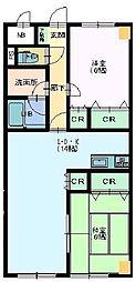 ピュアグリーンMINAGA[2階]の間取り