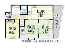 ライフステージヨシダ[9階]の間取り