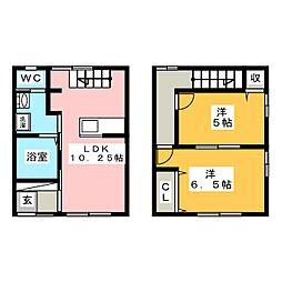 [一戸建] 岡山県岡山市北区石関町 の賃貸【/】の間取り