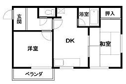 中井ハイツ[1階号室]の間取り