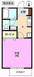 長野県松本市平田東1丁目の賃貸アパートの間取り