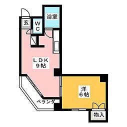 星ヶ丘第1ビル[5階]の間取り