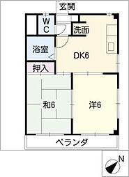 メゾン南富士松[2階]の間取り