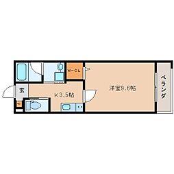 JR東海道本線 静岡駅 徒歩19分の賃貸マンション 5階1Kの間取り