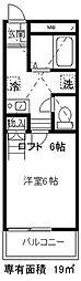 埼玉県川口市中青木5丁目の賃貸アパートの間取り