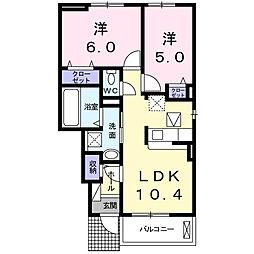 Cuoreクオーレ[1階]の間取り