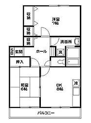 ヴィーブルヨコハマ[2階]の間取り