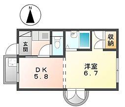 第三貞和ビル[4階]の間取り
