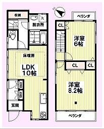 [一戸建] 東京都世田谷区北沢5丁目 の賃貸【/】の間取り