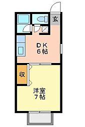 カサビエント新浜A[2階]の間取り