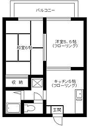 バードハイツ第一[1階]の間取り